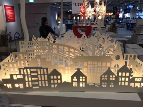 IKEAクリスマスの夜景