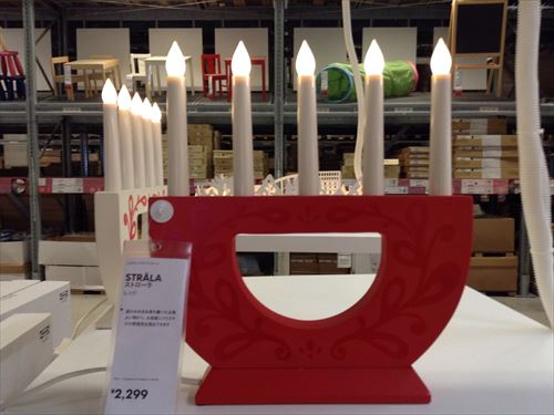 IKEAロウソクスタンド・LEDライト
