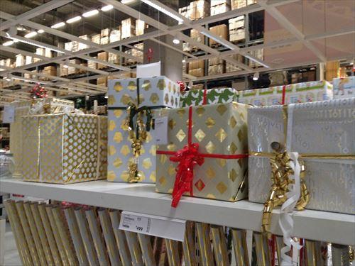 IKEAクリスマスプレゼント用包装紙