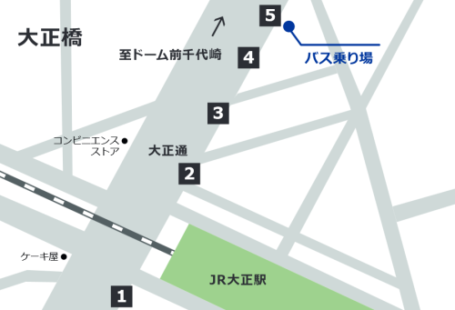 大正橋バス乗り場・IKEA鶴浜