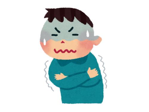 風邪寒気の様子