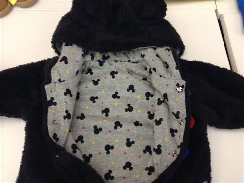 ミッキーマウスとミニーマウスのボアカバーオール(ベビー服)