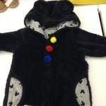 冬の防寒対策に、ミッキー&ミニーのベビー服、ボアカバーオール