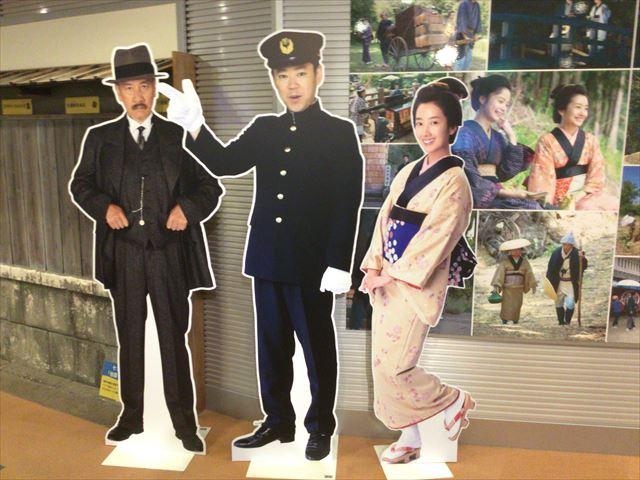 NHK大阪放送局9階の「あさが来た」収録見学