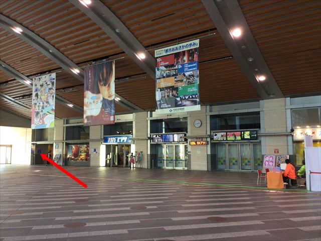 NHK大阪放送局内、エレベーターの場所