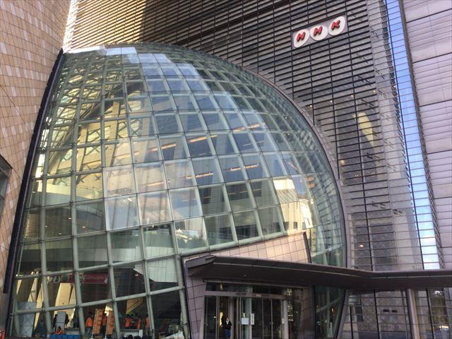 NHK大阪放送局、入口付近の様子