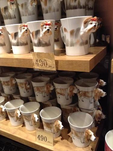 オーサムストアの雑貨・犬のマグカップ