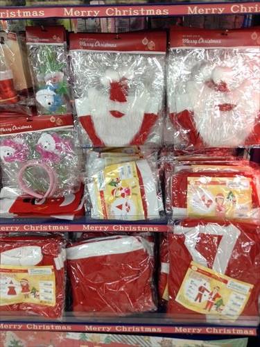 セリアのクリスマスグッズ・サンタクロースコスチューム&衣装