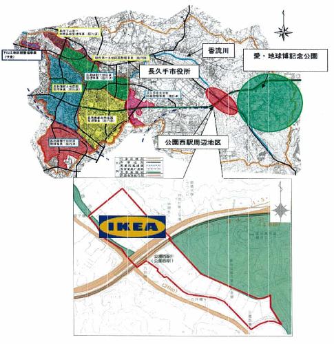 IKEA長久手周辺地図