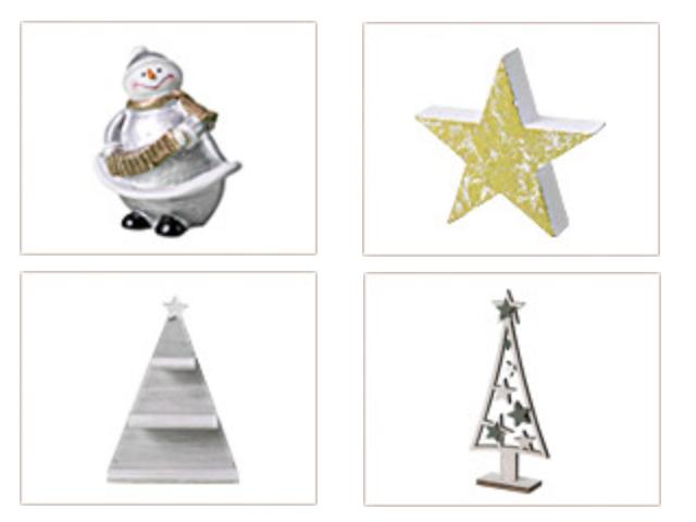 セリアクリスマスグッズ2019年新作・雪だるまオブジェ、星型スタンドなど