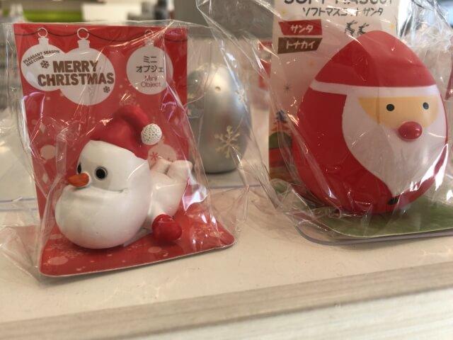 セリア「クリスマスグッズ」サンタのミニオブジェ