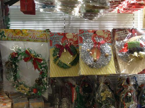 セリアのクリスマスグッズ・クリスマスツリー&オーナメント