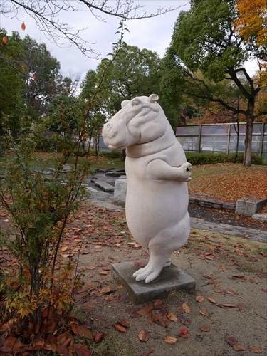 天王寺公園・カバの像