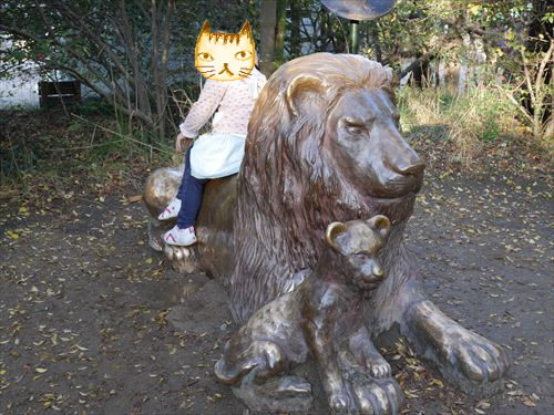 天王寺動物園・ライオン像