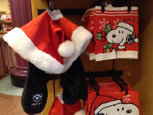 USJのクリスマスグッズ&プレゼント・スヌーピーサンタ帽子
