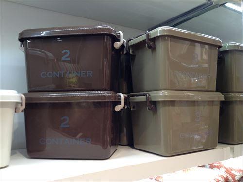 3COINSのプラスチック収納ボックス