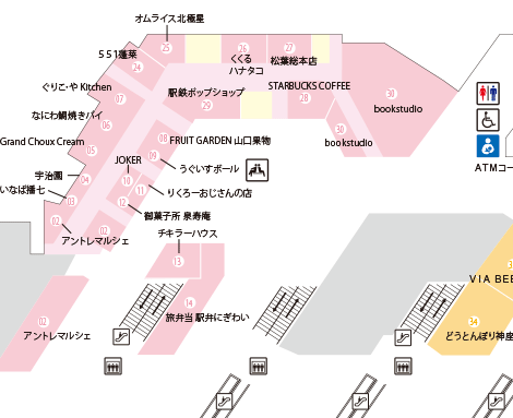 エキマルシェ新大阪マップ