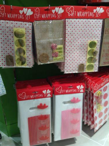 3COINSバレンタイン関連グッズ・ラッピング袋・包装
