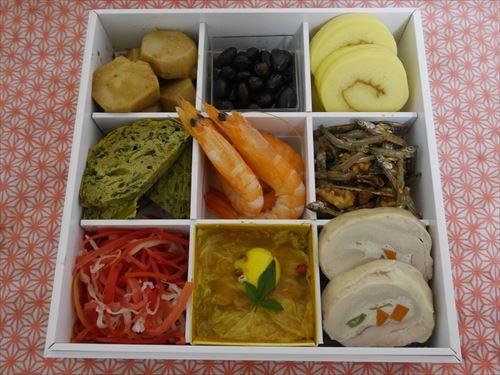 有機野菜宅配ビオマルシェの「畑の恵みおせちセット」一の重