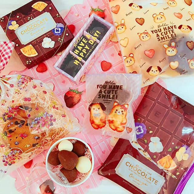 キャンドゥ「バレンタインチョコレートグッズ2021」ボックス、カップ、バッグ