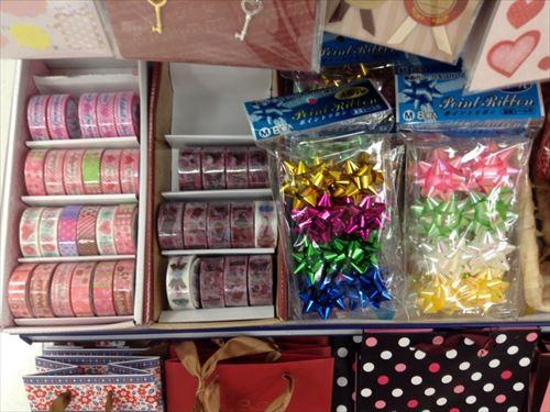 キャンドゥの手作りチョコレート関連グッズ・マスキングテープ&リボン