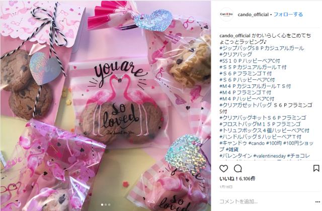 キャンドゥバレンタイングッズ2017・クッキー入れ