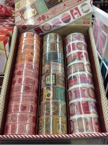 ダイソーのバレンタインチョコ用マスキングテープ