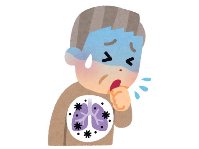 肺炎で咳が止まらない様子