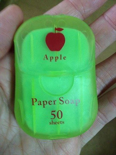 紙石鹸(ペーパーソープ)50枚入り。アップル