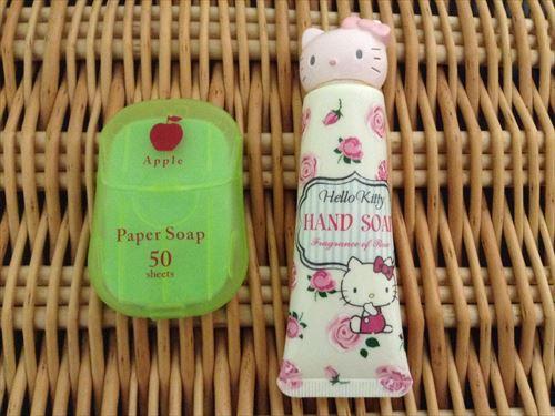 紙石鹸(ペーパーソープ)とキャラクターハンドソープ