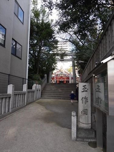 玉造稲荷神社の入口