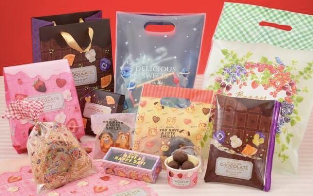 キャンドゥ「バレンタインチョコレートグッズ2021」ラッピングバッグ