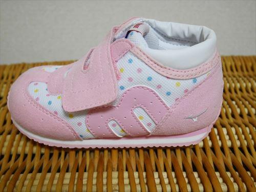 ミキハウス×ミズノコラボミキハウス×ミズノコラボシューズ・ピンク&白