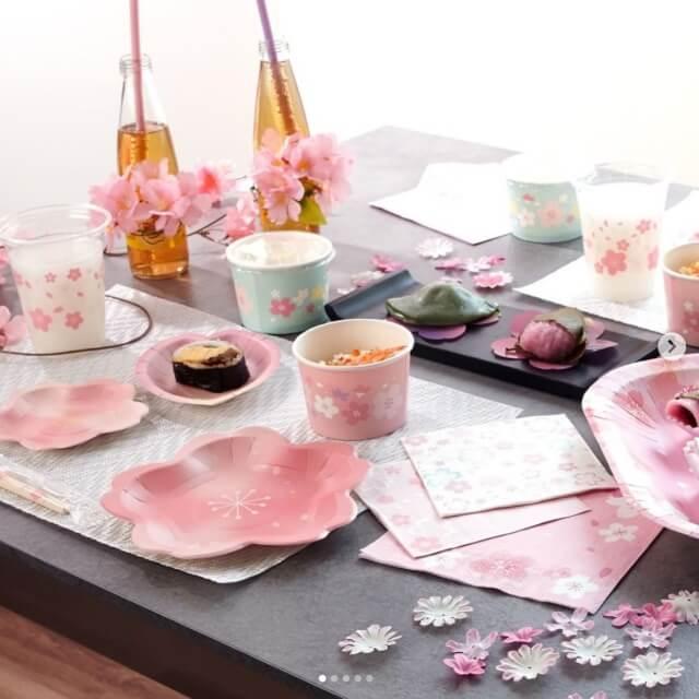 ダイソー「桜パーティーグッズ2021」