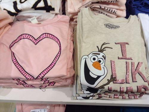 フォーエバー21・ガールズの子供服・ハートTシャツ・オラフTシャツ