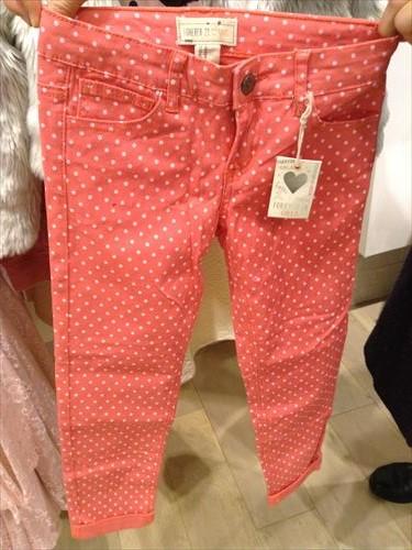 フォーエバー21・ガールズの子供服・水玉のズボン