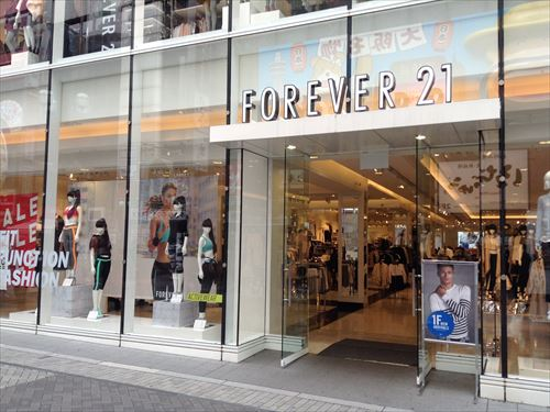 フォーエバー21(FOREVER 21)店頭の様子