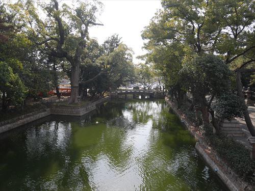 住吉大社の太鼓橋から見た眺め