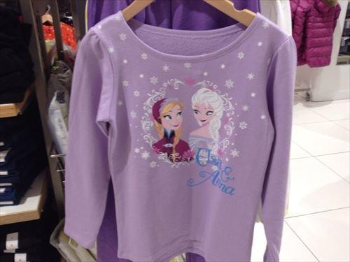 ユニクロ・アナと雪の女王(アナ雪)子供服