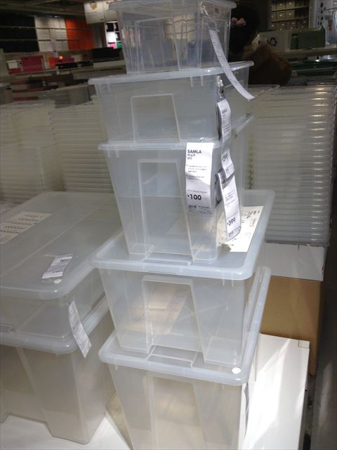 IKEAのプラスチックの収納グッズ・小物入れ