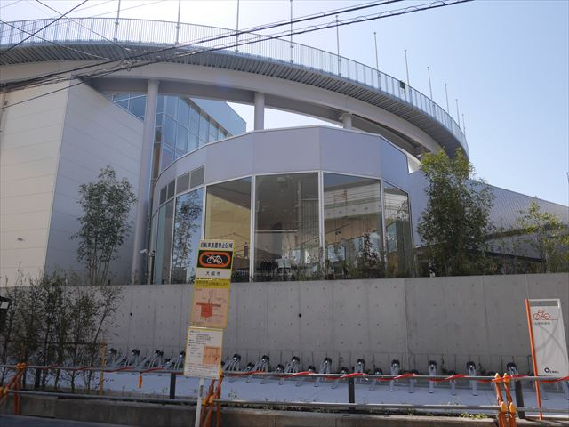 「もりのみやキューズモールBASE」工事進行状況(2015年3月28日)撮影