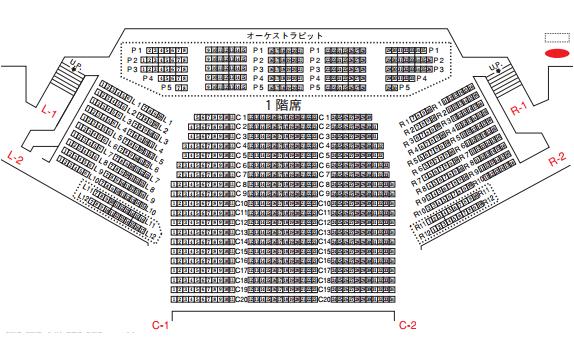 NHKホール座席表1階席