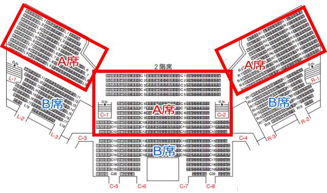 NHKホール座席表2階席