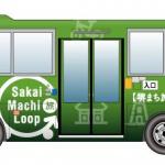 「堺まち旅ループバス」の運行ルート地図、時刻表、1日乗車券