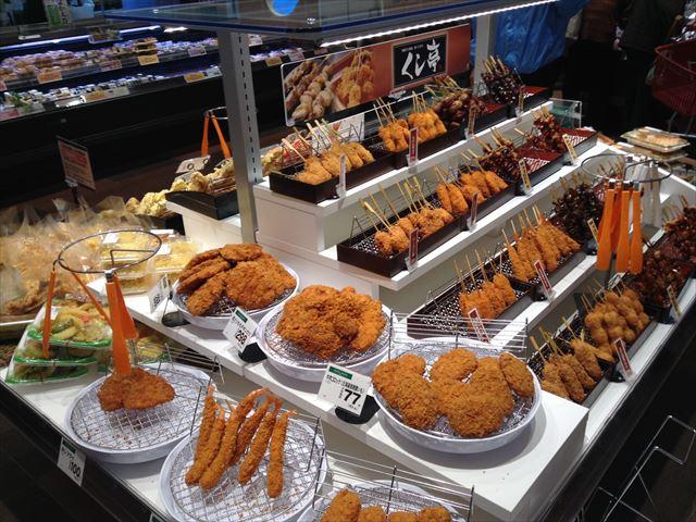 「セントラルスクエア・ライフ」森ノ宮店の様子(食料品売り場)・フライ&焼き鳥コーナー