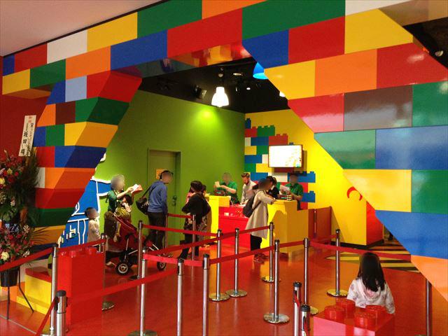 「レゴランドディスカバリーセンター大阪」の入口付近の様子