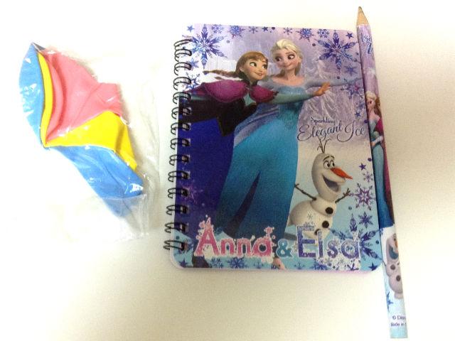 雑誌「あんふぁん」でアナ雪のノートと鉛筆、風船をゲット