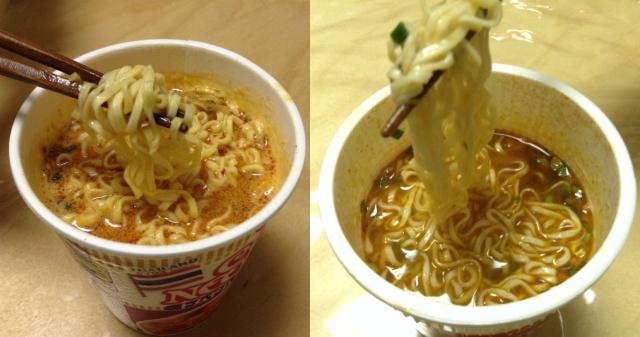 日清カップヌードル「トムヤムクンヌードル」日本版とタイ輸入版を比較・食べてみた感想比較