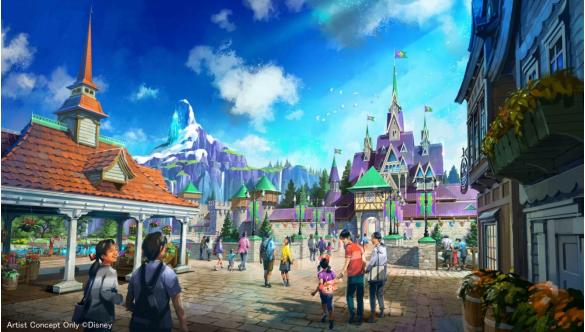 「東京ディズニーシー」アトラクション「アナと雪の女王」の街並み