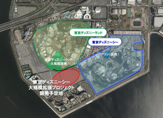 「東京ディズニーシー」大規模拡張プロジェクト地図